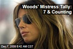 Woods' Mistress Tally: 7 & Counting