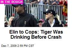 Elin to Cops: Tiger Was Drinking Before Crash