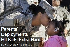 Parents' Deployments Hit Kids Extra Hard