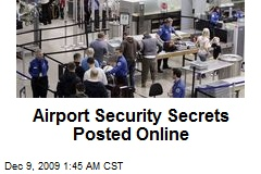 Airport Security Secrets Posted Online