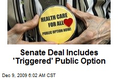 Senate Deal Includes 'Triggered' Public Option