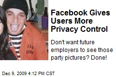 Facebook Gives Users More Privacy Control
