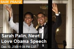Sarah Palin, Newt Love Obama Speech