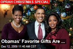 Obamas' Favorite Gifts Are ...