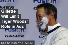 Gillette Will Limit Tiger Woods' Role in Ads