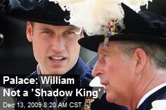 Palace: William Not a 'Shadow King'