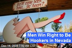 Men Win Right to Be Hookers in Nevada
