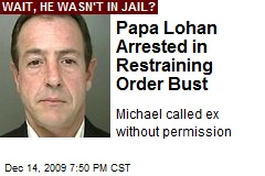 Papa Lohan Arrested in Restraining Order Bust