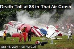Death Toll at 88 in Thai Air Crash