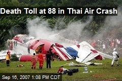 Death Toll at 88 in Thai Air Crash