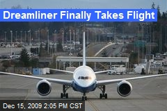 Dreamliner Finally Takes Flight