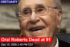 Oral Roberts Dead at 91