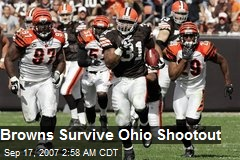 Browns Survive Ohio Shootout