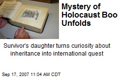 Mystery of Holocaust Book Unfolds