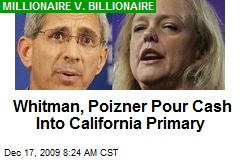 Whitman, Poizner Pour Cash Into California Primary