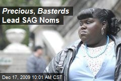 Precious , Basterds Lead SAG Noms