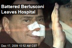 Battered Berlusconi Leaves Hospital