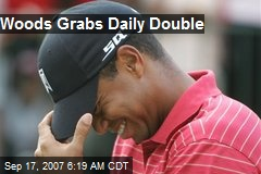 Woods Grabs Daily Double