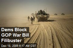 Dems Block GOP War Bill Filibuster
