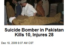 Suicide Bomber in Pakistan Kills 10, Injures 28