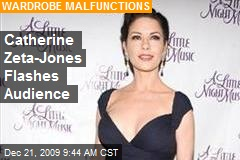 Catherine Zeta-Jones Flashes Audience