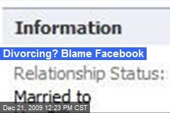 Divorcing? Blame Facebook