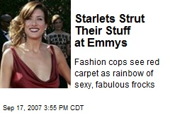 Starlets Strut Their Stuff at Emmys