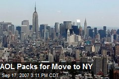 AOL Packs for Move to NY