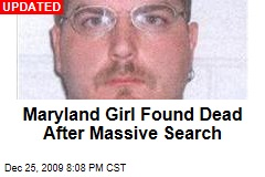 Maryland Girl Found Dead After Massive Search