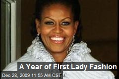 A Year of First Lady Fashion