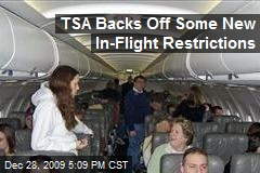 TSA Backs Off Some New In-Flight Restrictions