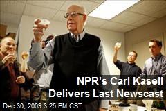 NPR's Carl Kasell Delivers Last Newscast