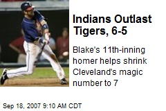Indians Outlast Tigers, 6-5