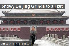 Snowy Beijing Grinds to a Halt