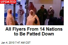 All Flyers From 14 Nations to Be Patted Down