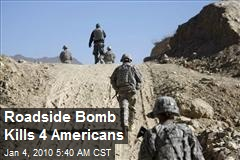 Roadside Bomb Kills 4 Americans