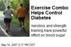 Exercise Combo Helps Control Diabetes