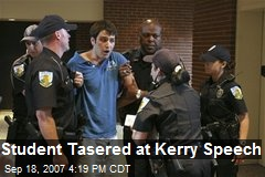 Student Tasered at Kerry Speech