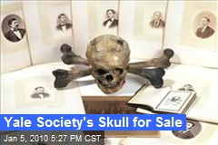 Yale Society's Skull for Sale