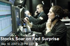 Stocks Soar on Fed Surprise