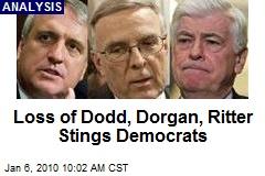 Loss of Dodd, Dorgan, Ritter Stings Democrats