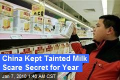 China Kept Tainted Milk Scare Secret for Year