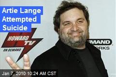 Artie Lange Attempted Suicide