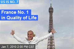 France No. 1 in Quality of Life
