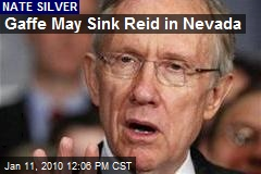 Gaffe May Sink Reid in Nevada