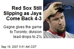 Red Sox Still Slipping as Jays Come Back 4-3