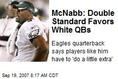 McNabb: Double Standard Favors White QBs