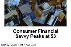Consumer Financial Savvy Peaks at 53
