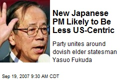 New Japanese PM Likely to Be Less US-Centric