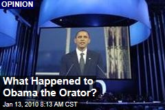 What Happened to Obama the Orator?
